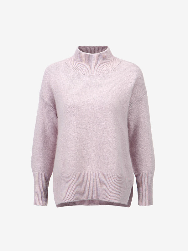 lavender raccoon knit